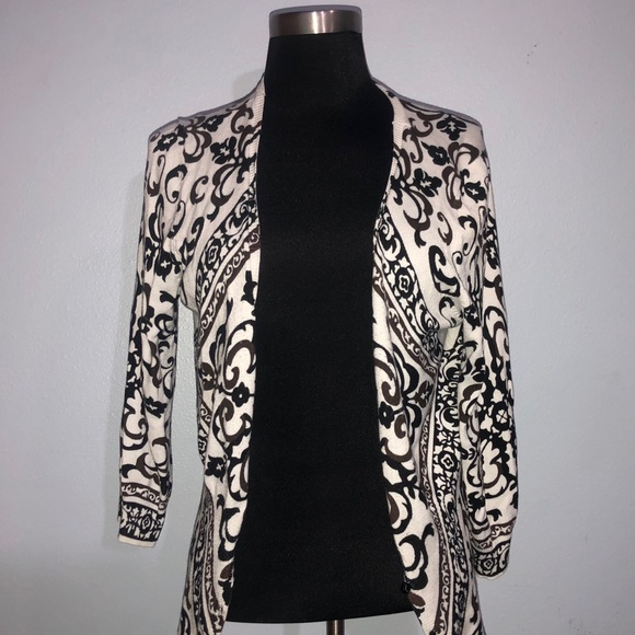 White House Black Market Sweaters - Patterned Cardigan